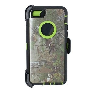 Accessories - Iphone 5/5s/SE Defender Type Case Green Tree Camo